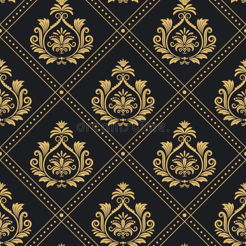 Sömlös barock för viktoriansk kunglig modell stock illustrationer