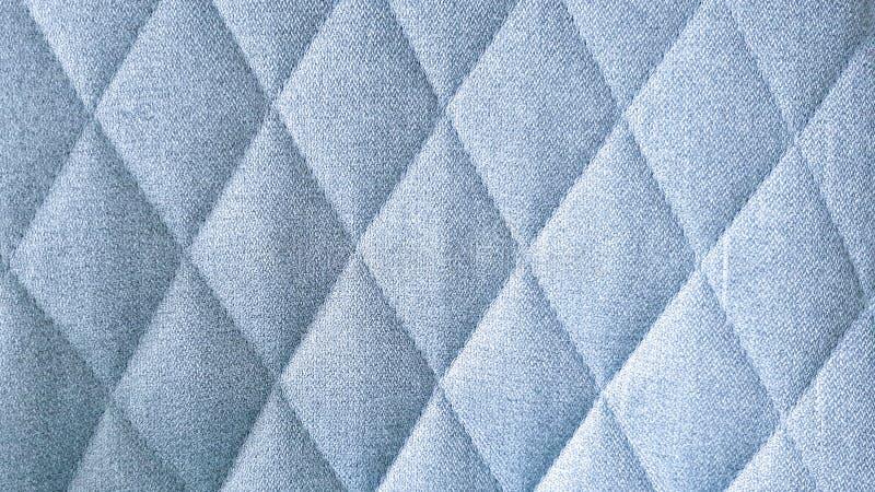 Sömlös blå modell för tygtextilromb arkivbild