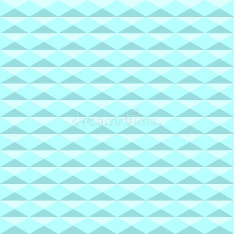 Sömlös blå triangelmodell Geometrisk abstrakt texturbackg vektor illustrationer