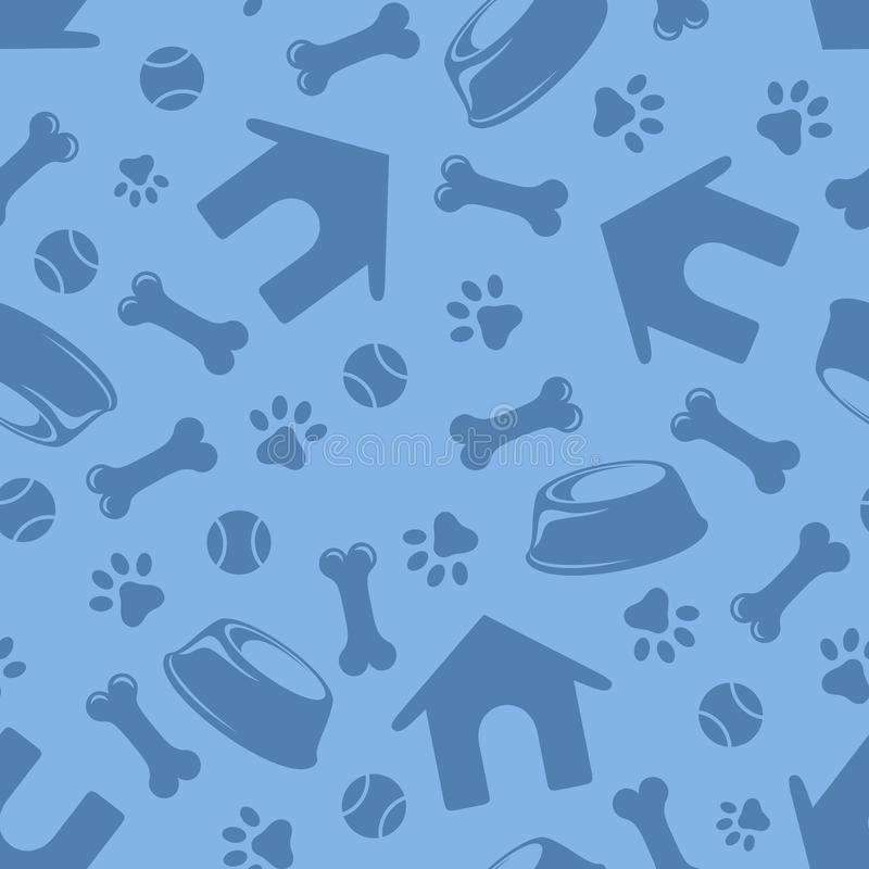 Sömlös blåttmodell med hundkapplöpningsymboler också vektor för coreldrawillustration vektor illustrationer