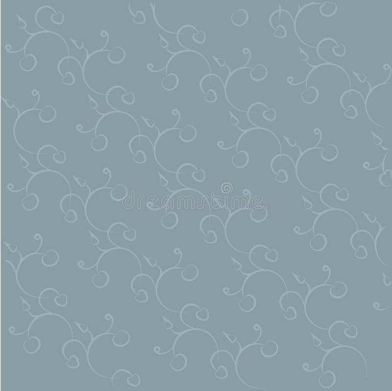 Sömlös blom- flätad trådtextur, handen som drar vektor illustrationer