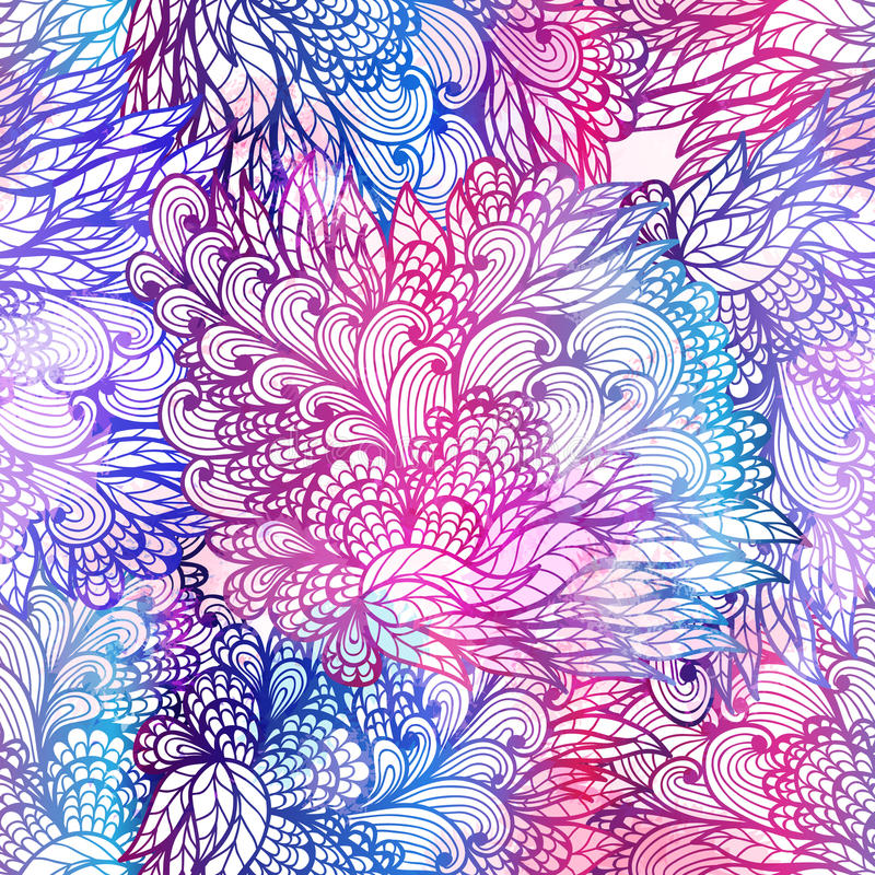 Sömlös blom- grungelutningmodell vektor illustrationer