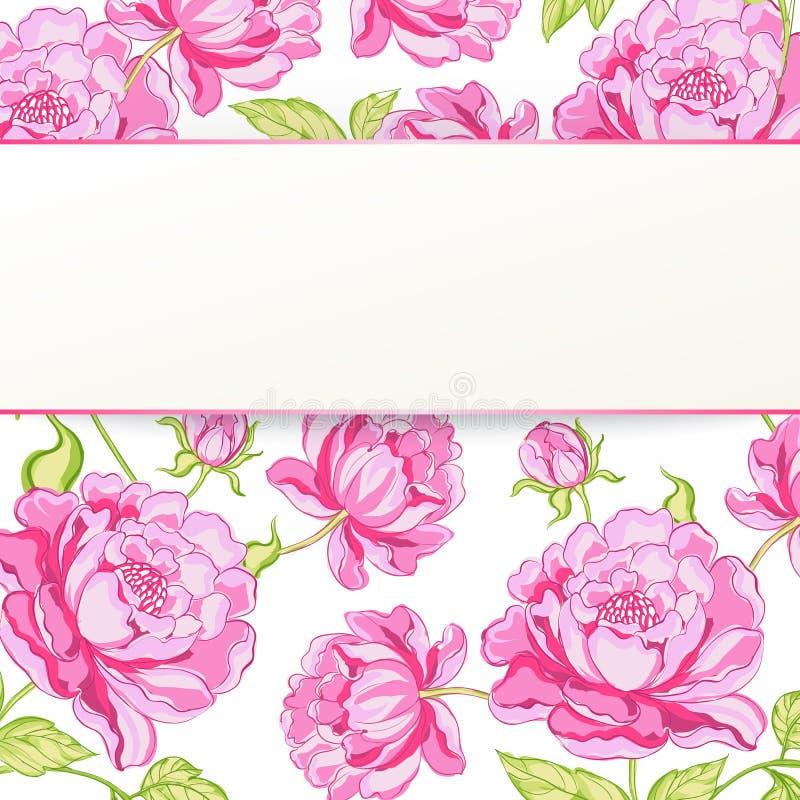 Sömlös blom- modell. stock illustrationer