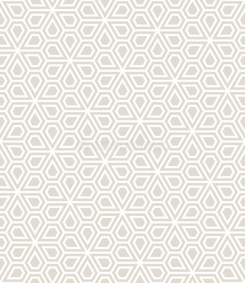 Sömlös blom- modell för abstrakt geometriskt pentagonraster royaltyfri illustrationer