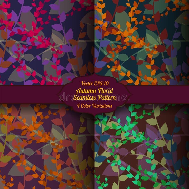 Sömlös blom- modell för vektorhöst royaltyfri bild
