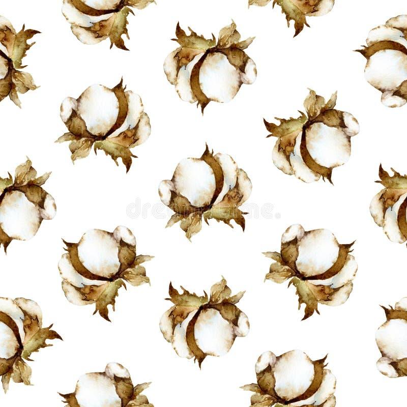 Download Sömlös Blom- Modell Med Bomull Stock Illustrationer - Illustration av naturligt, floror: 78726990