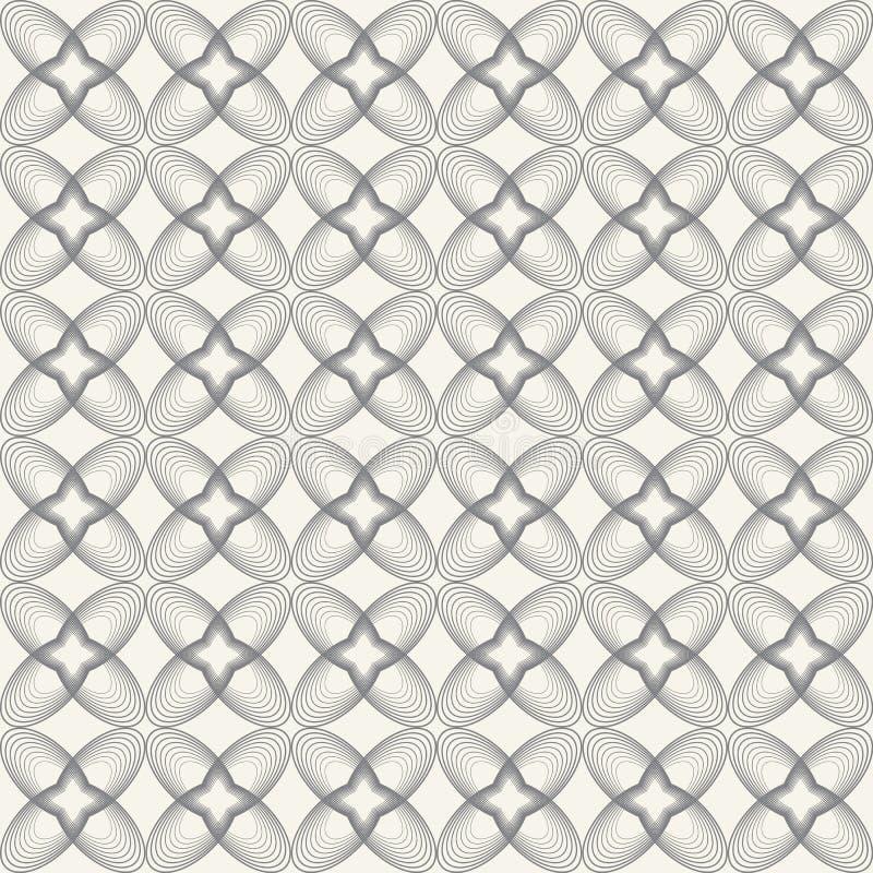 Sömlös blom- modell, modern stilfull textur stock illustrationer