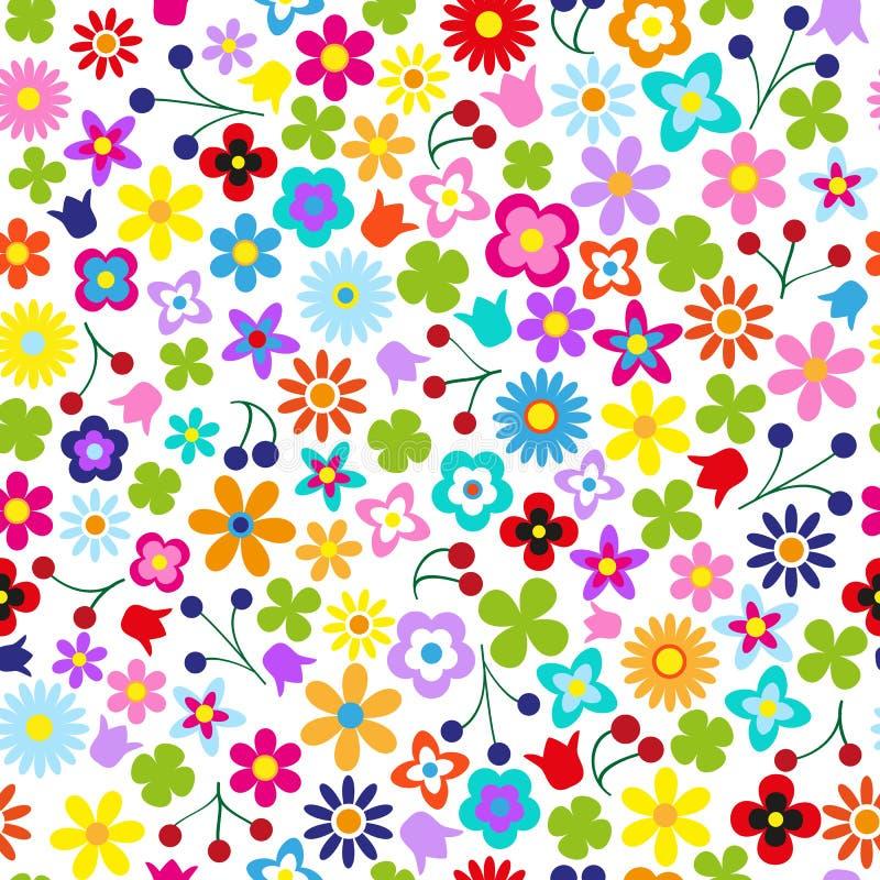 Download Sömlös blomma vektor illustrationer. Illustration av upprepa - 37348092