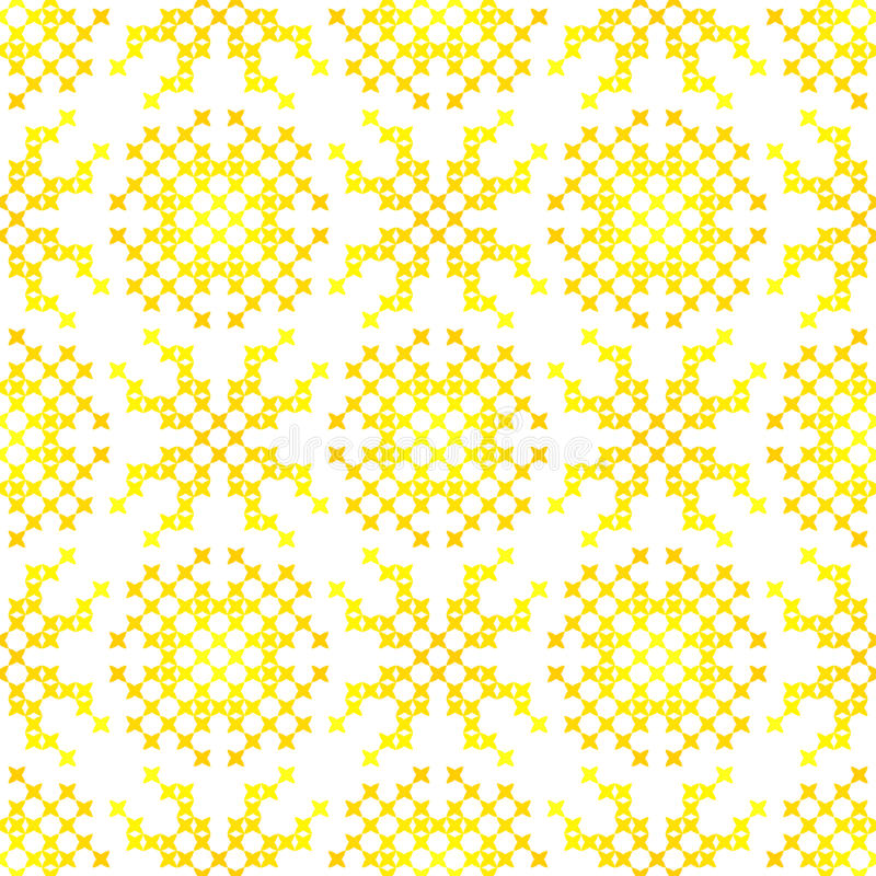 Sömlös broderad textur av abstrakt begreppmodeller för torkduk royaltyfri illustrationer