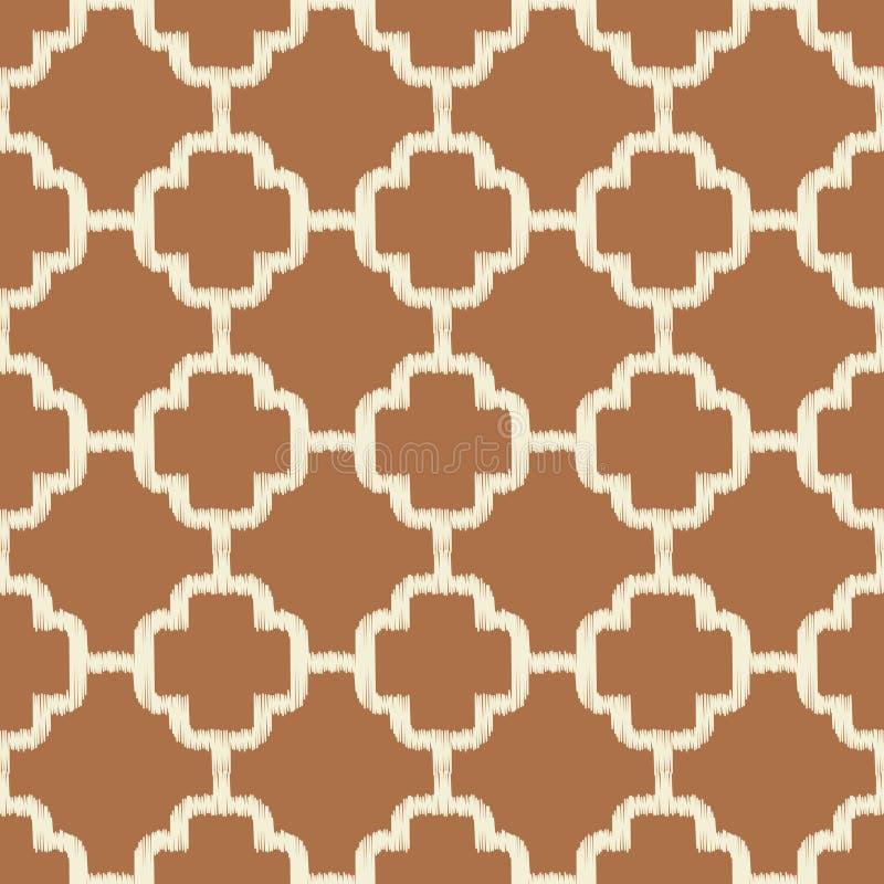 Sömlös brun islamisk ingreppsbakgrund stock illustrationer