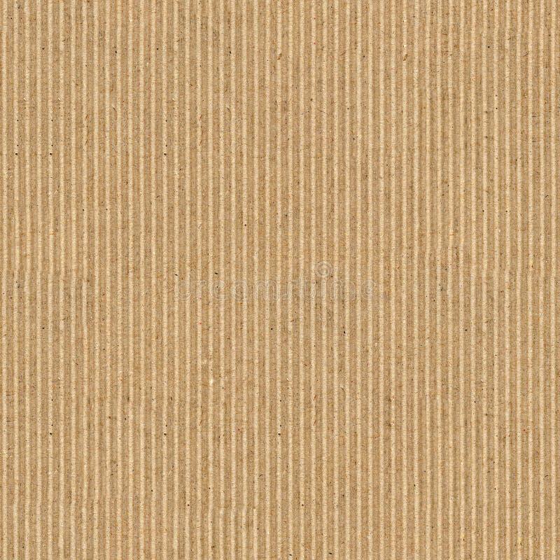 sömlös brun wellpapptexturbakgrund arkivbilder