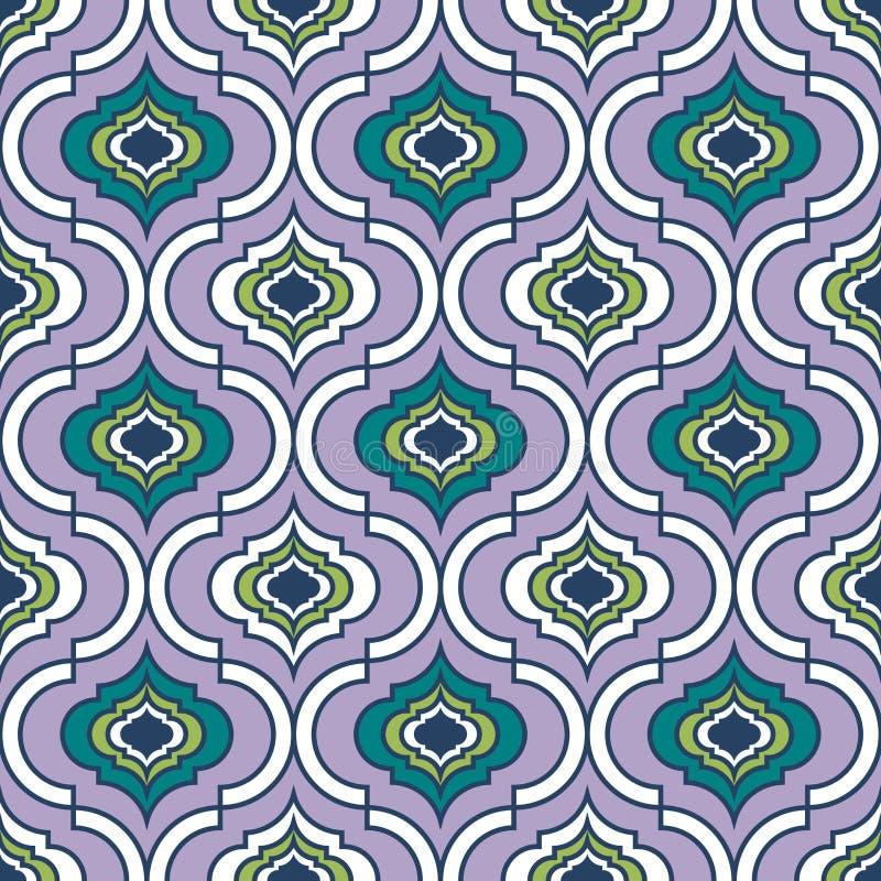 Sömlös damast modell, geometrisk spaljémodell, sömlös bakgrund för mång- färg, textur för vektor för skärmtryck vektor illustrationer
