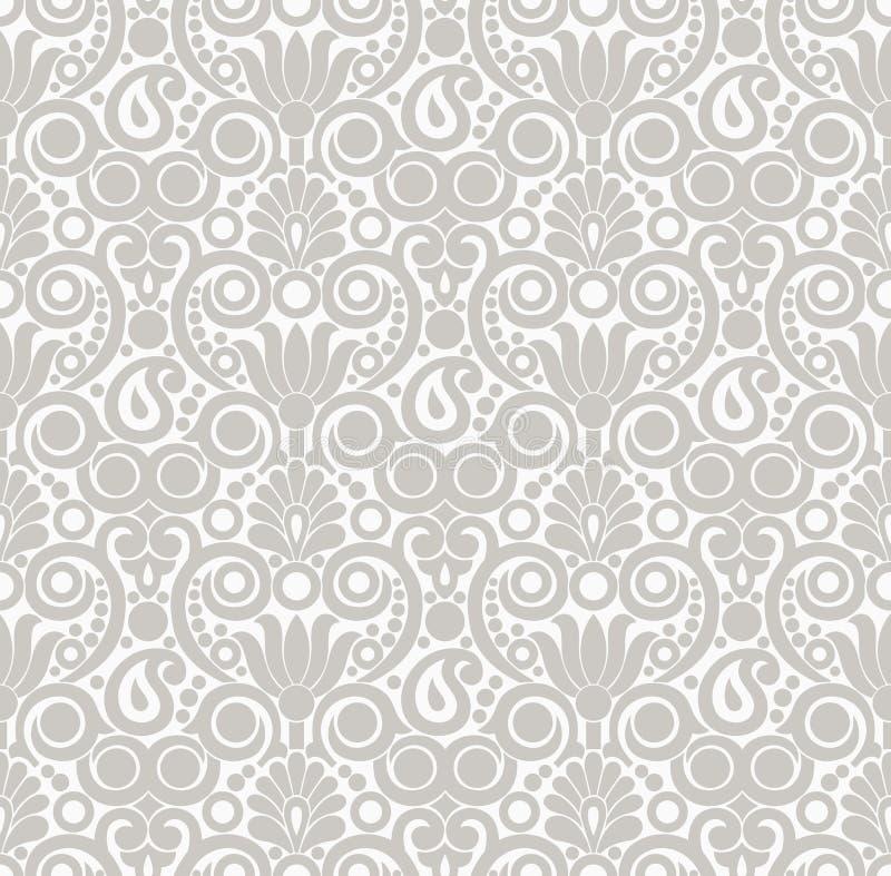 Sömlös damast tapetdesign vektor illustrationer