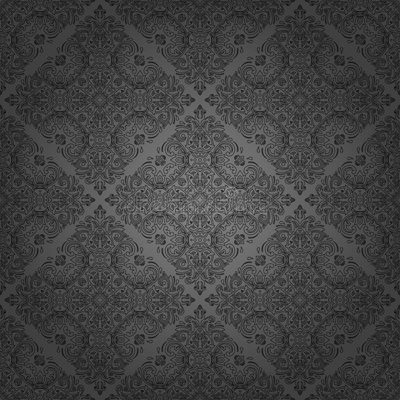 Sömlös damast vektorbakgrund vektor illustrationer