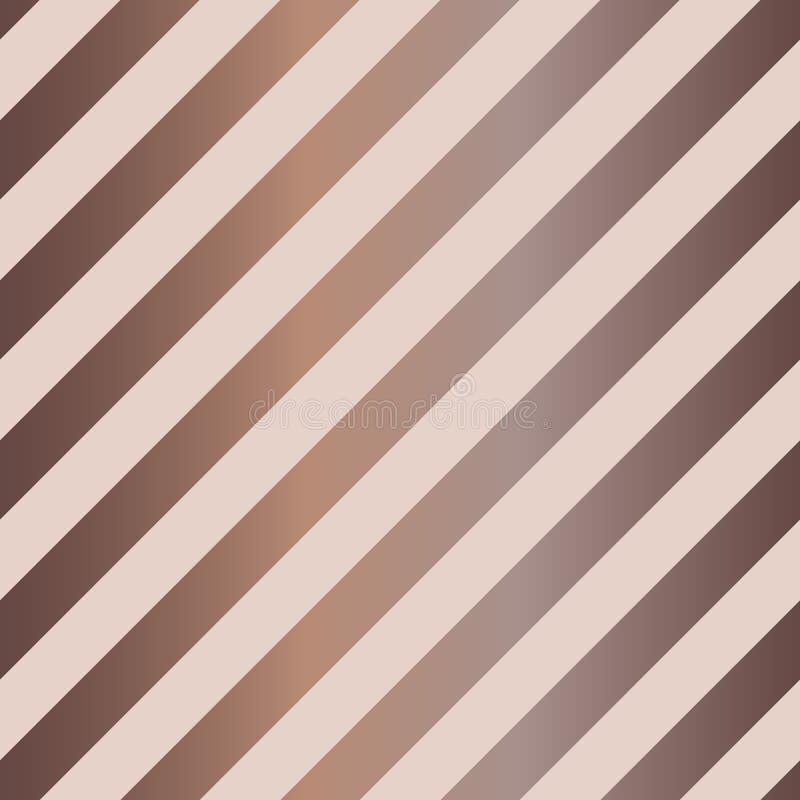 Sömlös diagonal bandmodell i nakenstudie och choklad vektor illustrationer