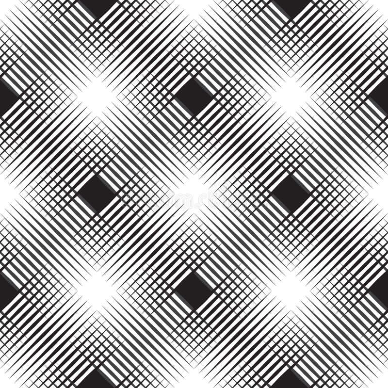 Sömlös diagonal rastrerad modell Geo geometrisk bakgrund, textur för skärmtryck vektor illustrationer