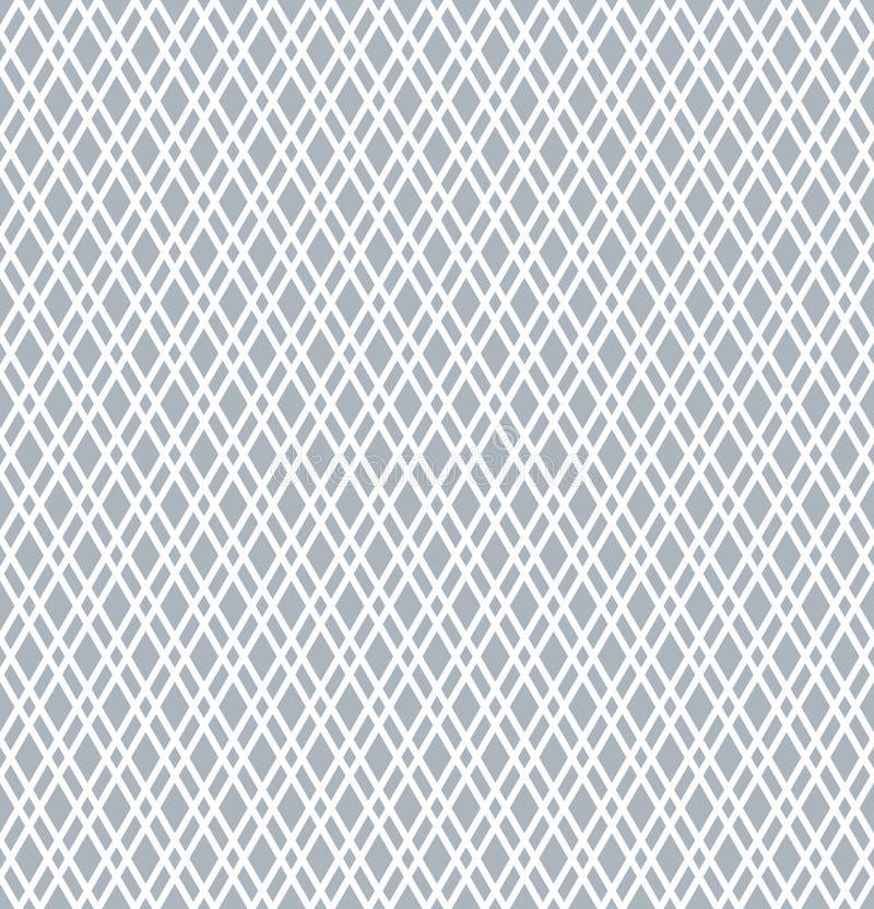 Sömlös diamantmodell Geometrisk latticed textur stock illustrationer