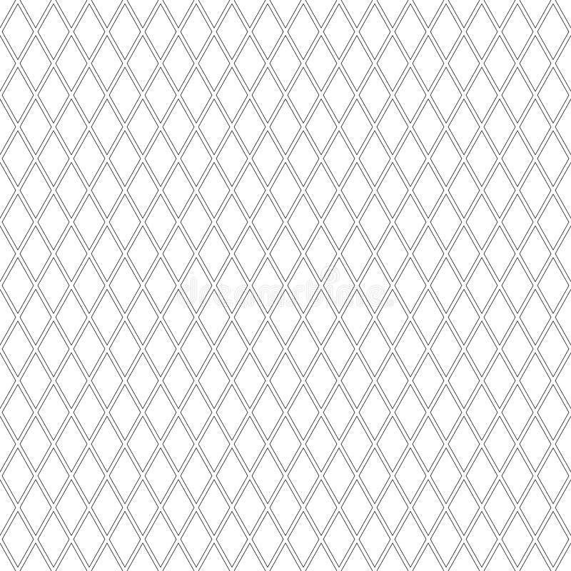 Sömlös diamantmodell Geometrisk latticed textur royaltyfri illustrationer