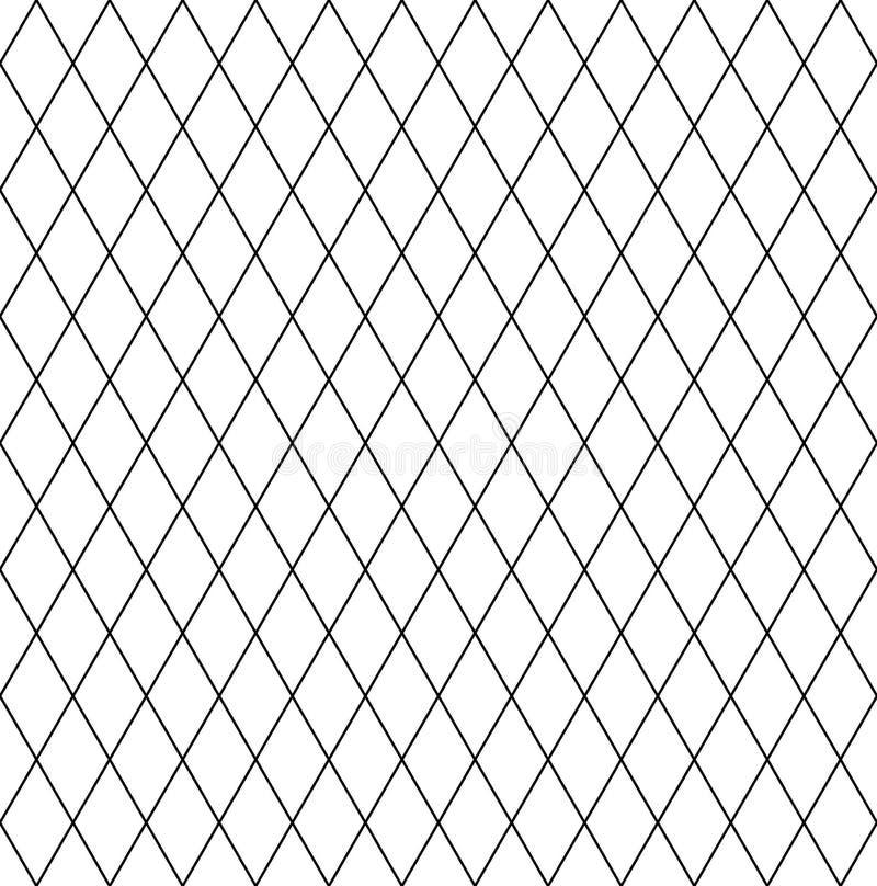 Sömlös diamantmodell Latticed geometrisk textur royaltyfri illustrationer