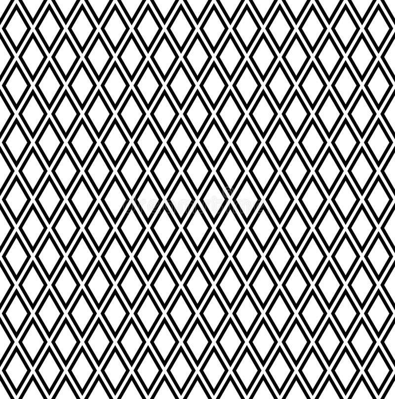 Sömlös diamantmodell Latticed textur stock illustrationer