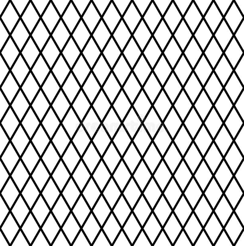 Sömlös diamantmodell Latticed textur vektor illustrationer