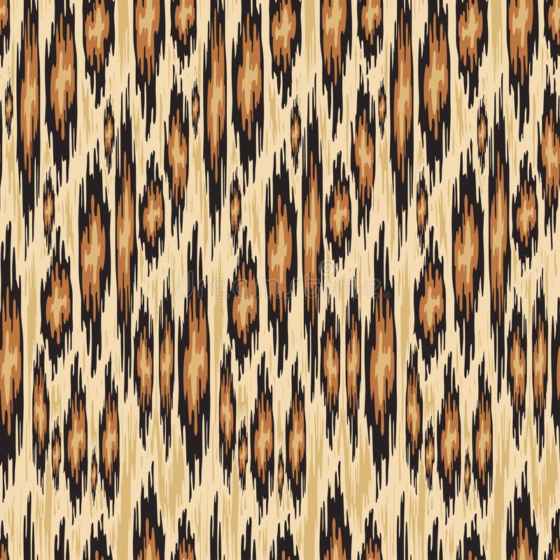 Sömlös djur modell för textildesign på ikatstättan också vektor för coreldrawillustration royaltyfri illustrationer