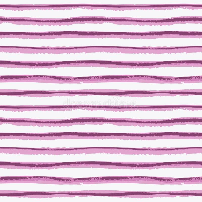 Sömlös dragen bandtextur för färgpulver hand vektor illustrationer