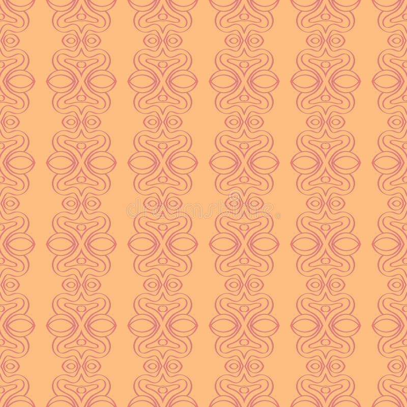 Sömlös etnisk bakgrund i rosa vektorillustrationtextur royaltyfri illustrationer