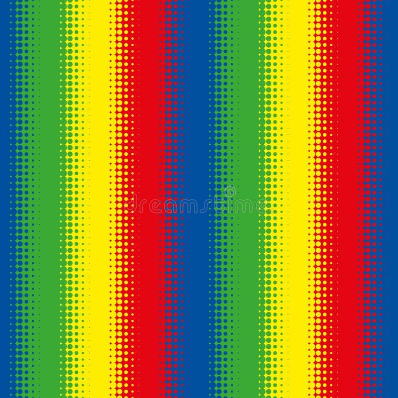Sömlös färgglad rastrerad tapet för modellbandbakgrund vektor illustrationer