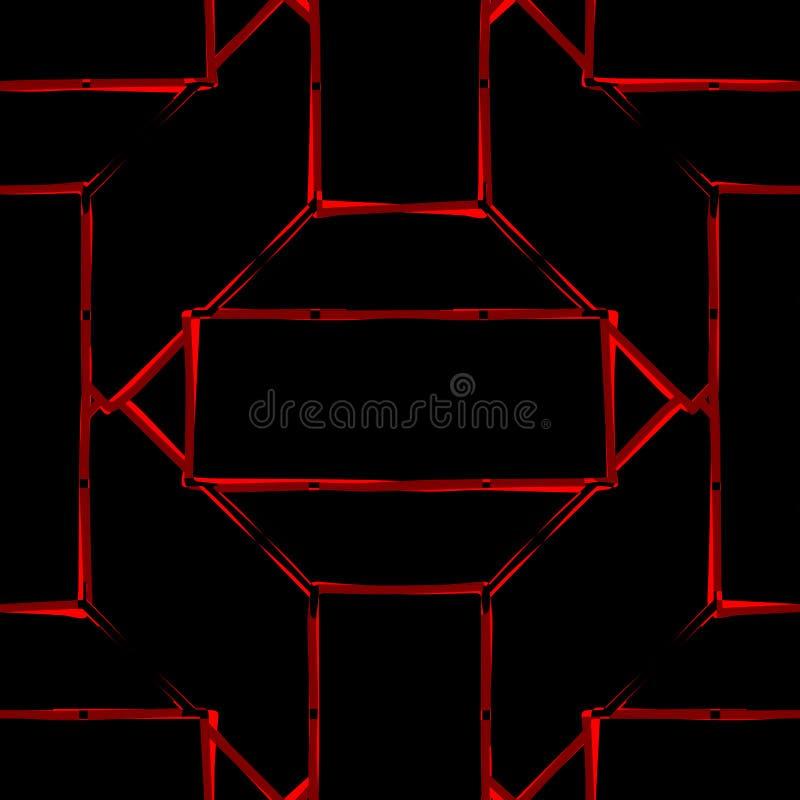 Sömlös färgrik abstrakt bakgrund av geometriska linjer stock illustrationer