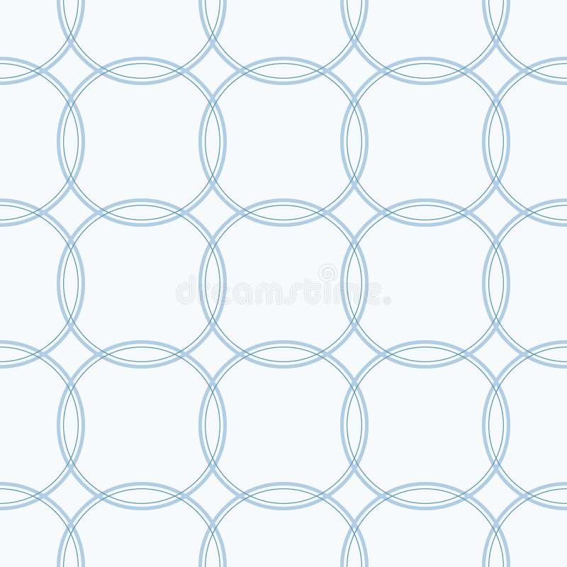 Sömlös färgrik abstrakt modern modell som skapas från skärande cirklar stock illustrationer