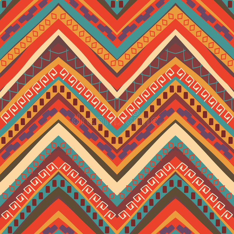 Sömlös färgrik aztec modell vektor illustrationer