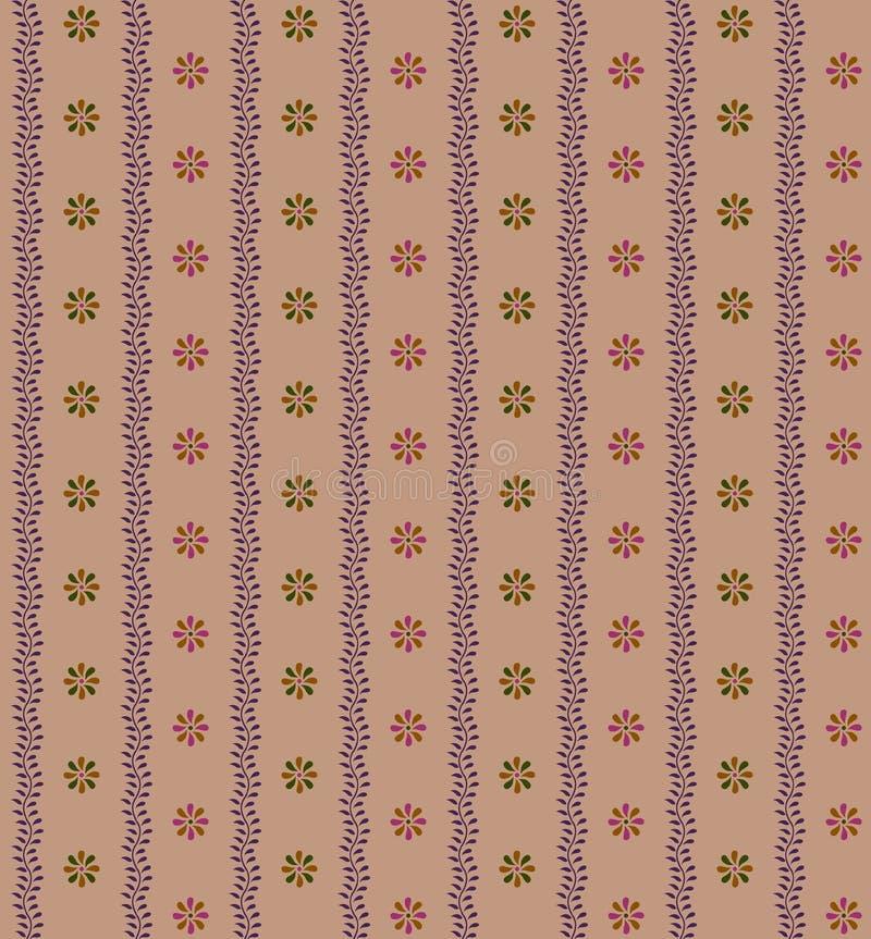 Sömlös färgrik blommatappningbakgrund vektor illustrationer