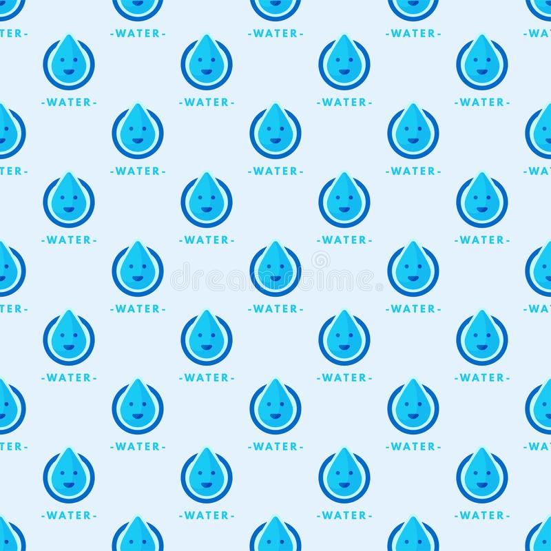 Sömlös färgrik illustration för abstrakt begrepp för regndroppe för natur för blått för vatten för vektor för droppmodellbakgrund stock illustrationer