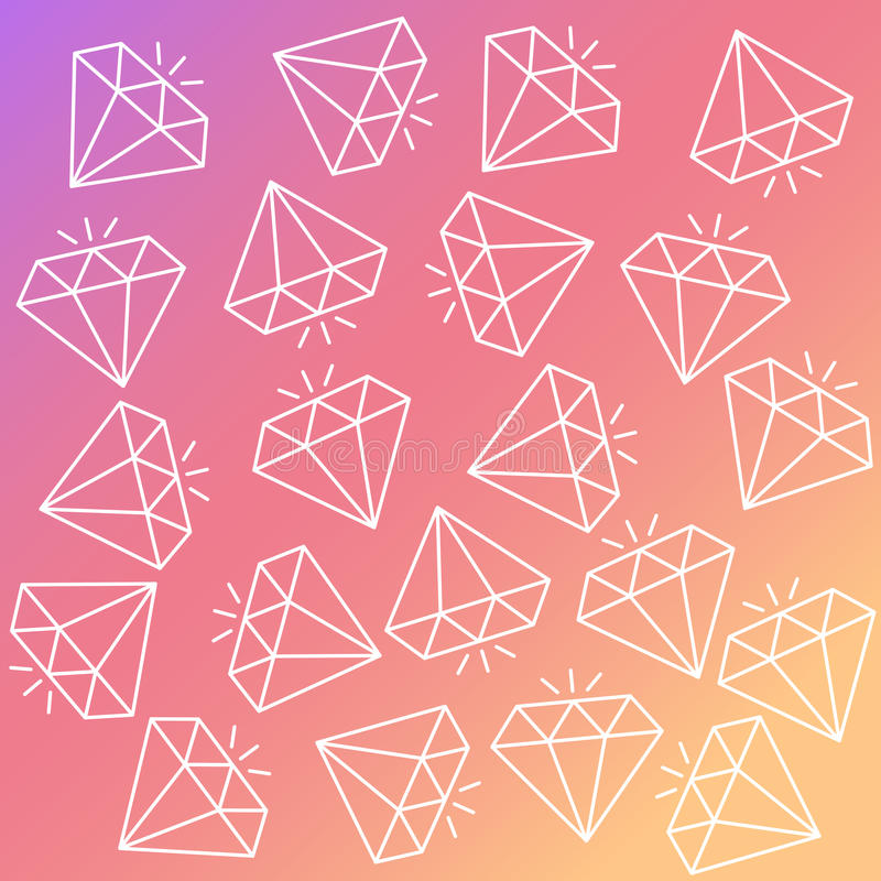 Sömlös färgrik modell för abstrakt vektor med diamanter Bakgrund för utskrift av broschyren, affisch, parti, tappning vektor illustrationer