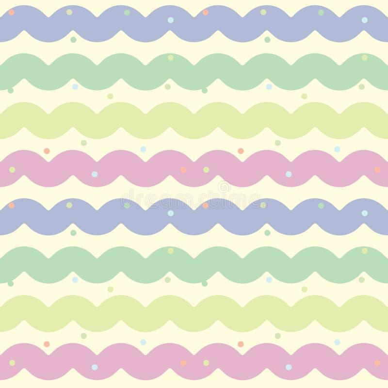 Sömlös färgrik modell för vektor royaltyfri illustrationer