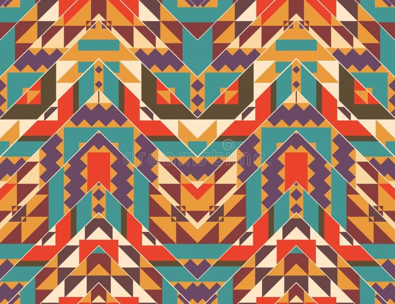 Sömlös färgrik navajomodell stock illustrationer