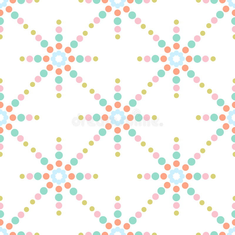 Sömlös färgrik prickmodell stock illustrationer