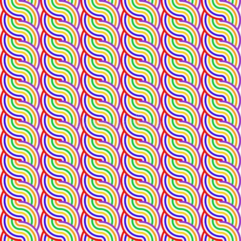Sömlös färgrik vinkande modell för design stock illustrationer