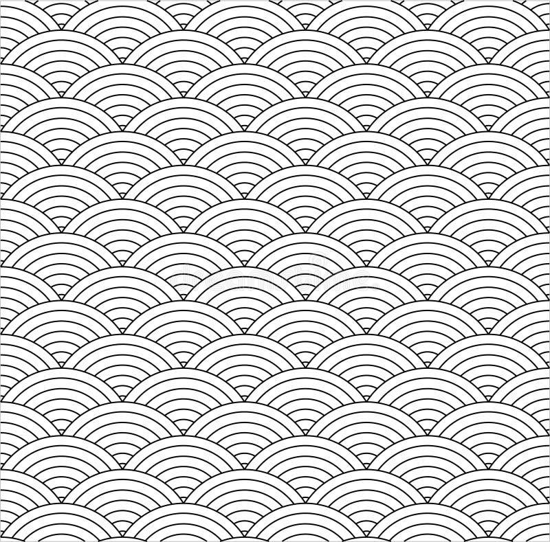 Sömlös fiskskala vektor illustrationer