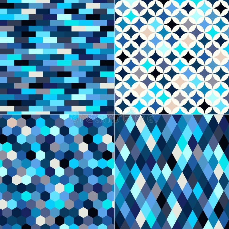 Sömlös flerfärgad geometrisk tegelplattamodell royaltyfri illustrationer