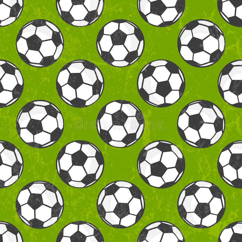 Sömlös fotbollmodell, vektorbakgrund. vektor illustrationer