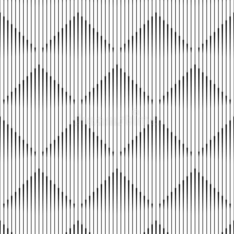 Sömlös fyrkant och linje modell abstrakt bakgrundsmonokrom stock illustrationer