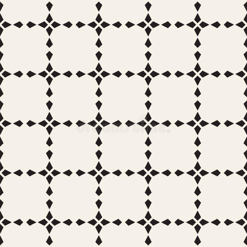 Sömlös gallermodell för vektor abstrakt bakgrund Upprepa geometriska stjärnaformtegelplattor stock illustrationer