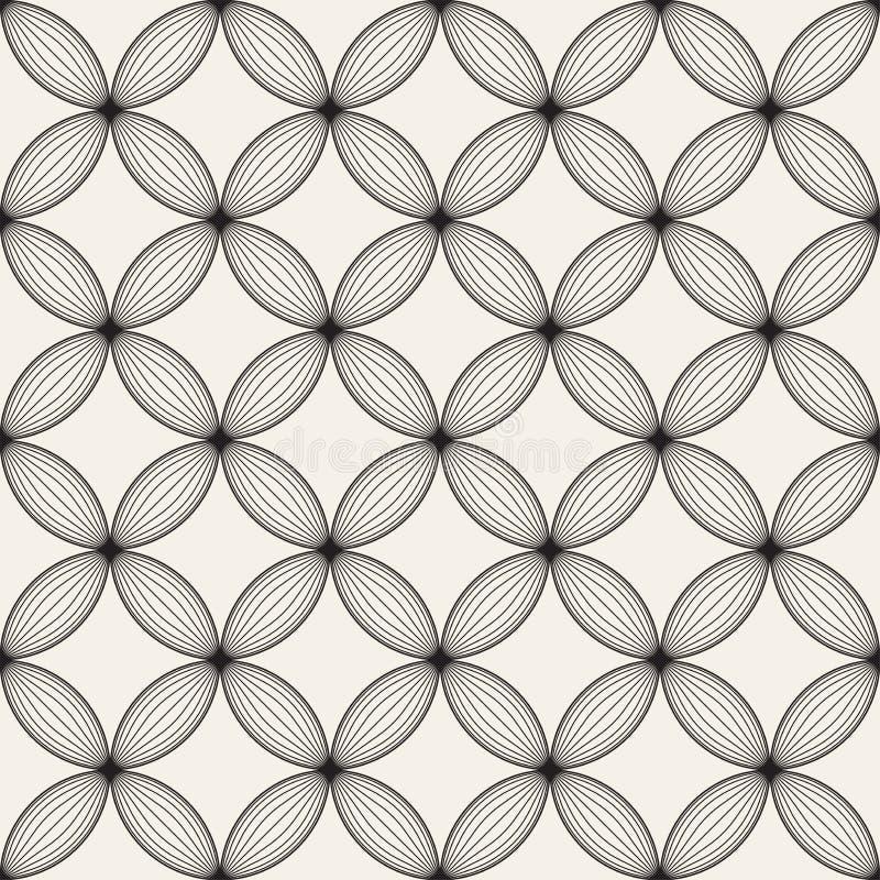 Sömlös gallermodell för vektor Modern stilfull textur med spaljé Upprepa geometriskt raster Enkel bakgrund för grafisk design royaltyfri bild
