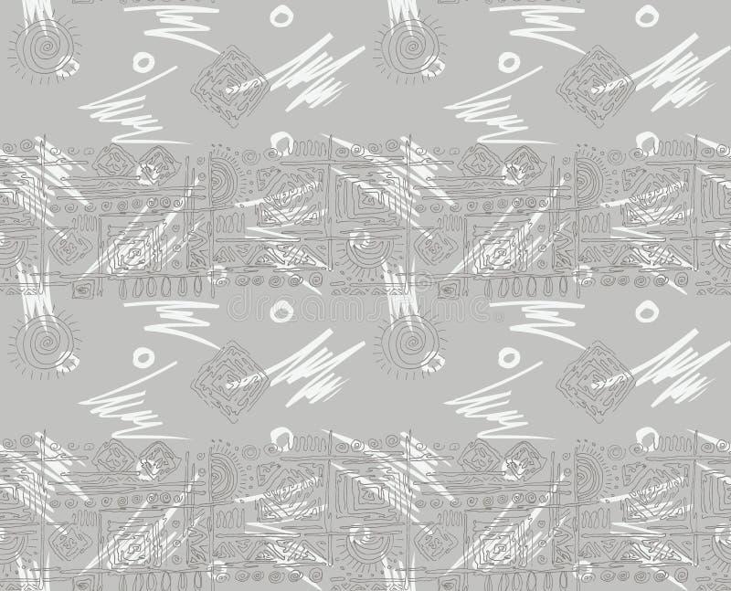 Sömlös geometrisk abstrakt bakgrund för blom- design stock illustrationer