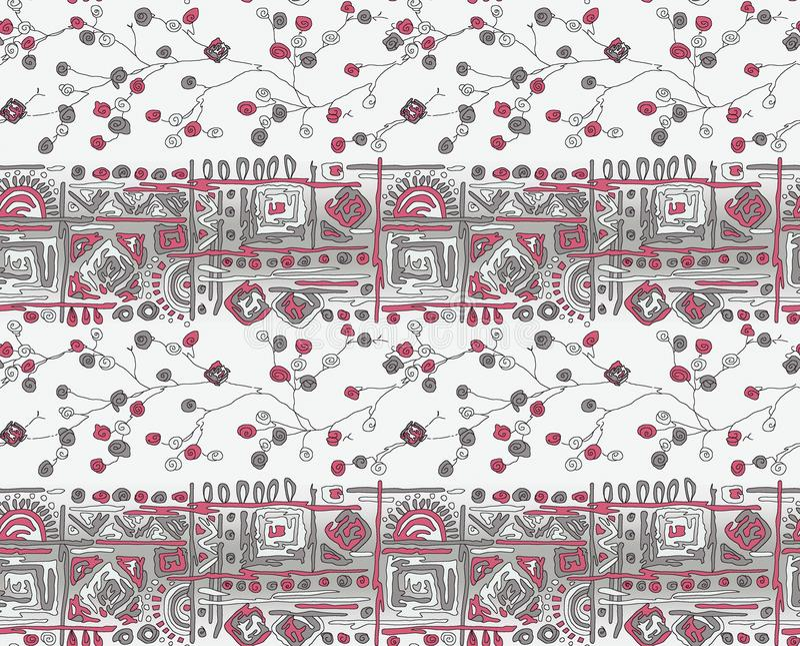 Sömlös geometrisk abstrakt gränsbakgrund vektor illustrationer