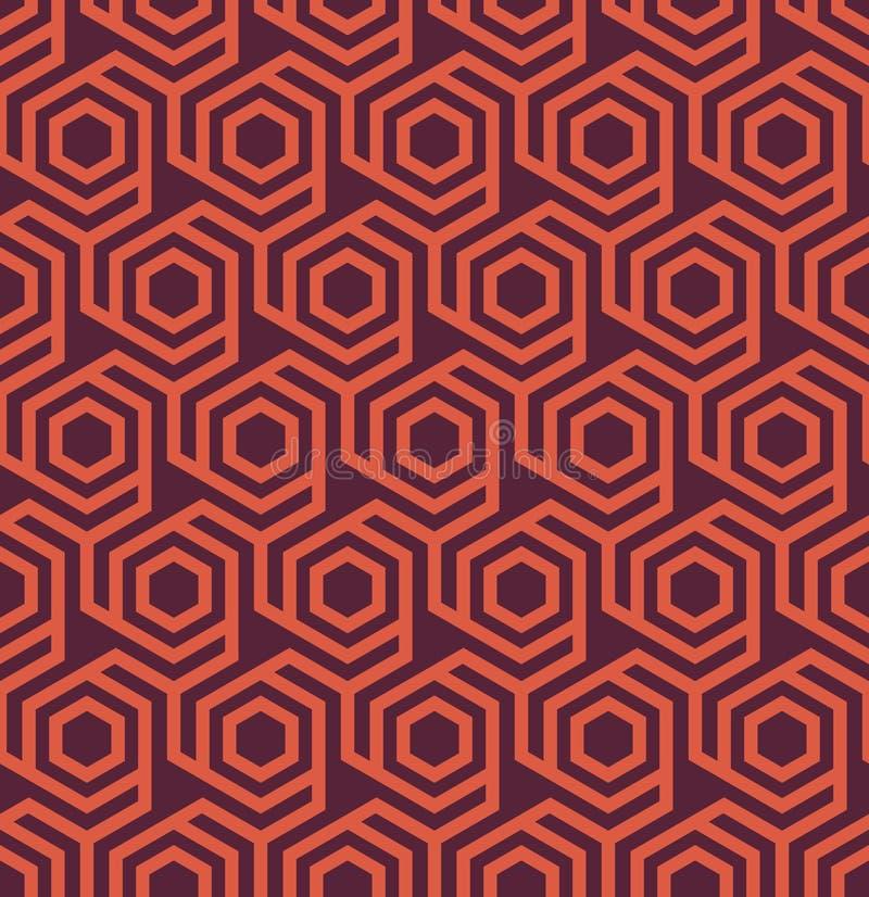 Sömlös geometrisk abstrakt sexhörnig modell - eps8 royaltyfri illustrationer