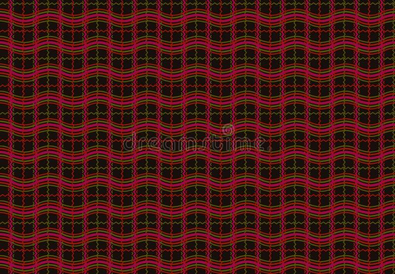 Sömlös geometrisk bakgrund för kontrollskjortadesign vektor illustrationer