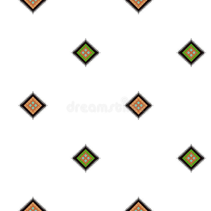 Sömlös geometrisk färgrik fyrkantig design med vit bakgrund royaltyfri illustrationer